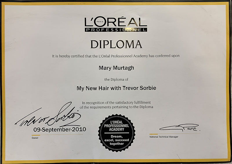 L'Oreal Professional Academy Diploma